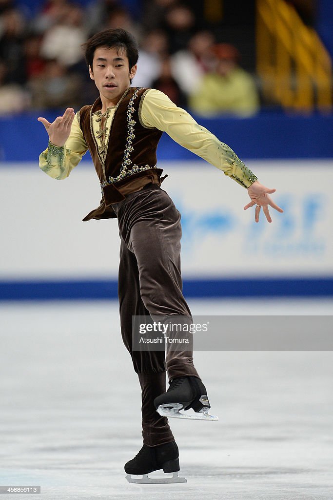 Nobunari Oda of Japan performs in the men's free skating during All Japan Figure Skating Championships at Saitama Super Arena on December 22, 2013 in Saitama, Japan.