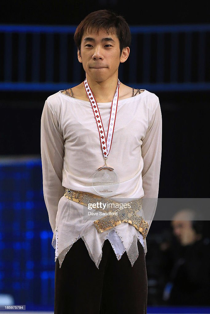 <a gi-track='captionPersonalityLinkClicked' href=/galleries/search?phrase=Nobunari+Oda+-+Figure+Skater&family=editorial&specificpeople=727292 ng-click='$event.stopPropagation()'>Nobunari Oda</a> of Japan wins the bronze medal in the men's free program on day two at the ISU GP 2013 Skate Canada International at Harbour Station on October 26, 2013 in Saint John, New Brunswick, Canada.