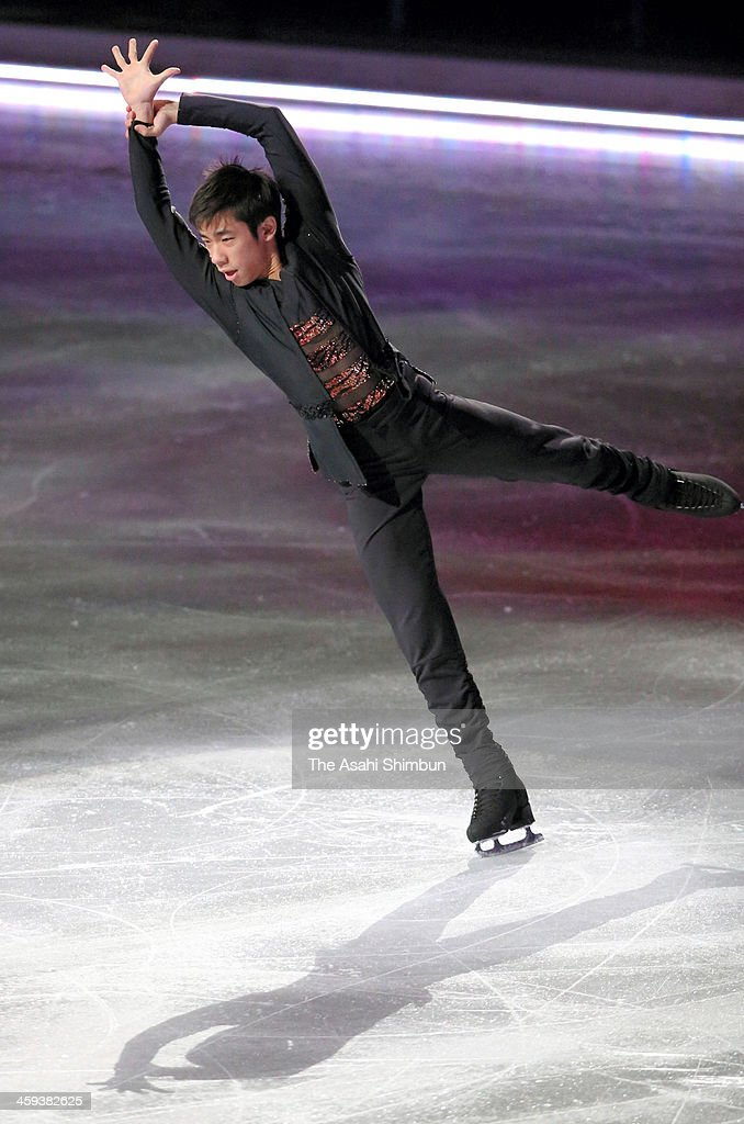 Nobunari Oda performs during the gala exhibition during day four of the 82nd All Japan Figure Skating Championships at Saitama Super Arena on December 24, 2013 in Saitama, Japan.