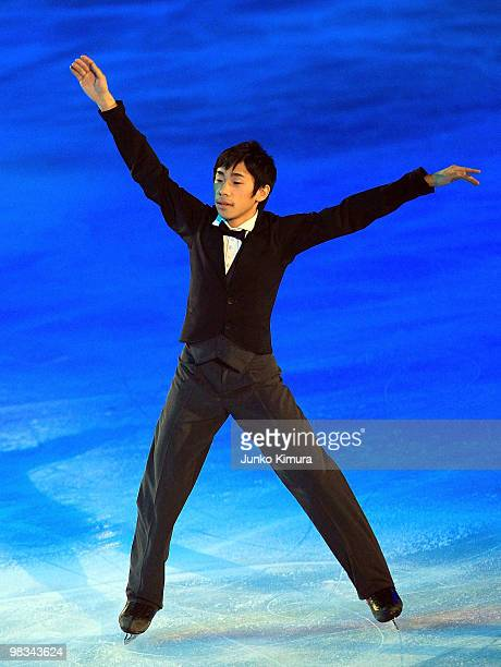 Nobunari Oda performs during the Stars on Ice 2010 at Yoyogi National Gymnasium on April 9 2010 in Tokyo Japan