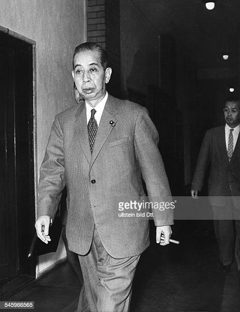 Nobusuke Kishi after having announced his resignation as Prime Minister of Japan