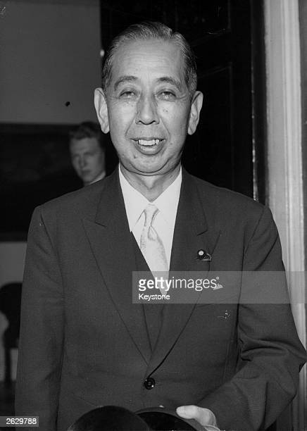 Nobusuke Kishi Japanese prime minister during a visit to London