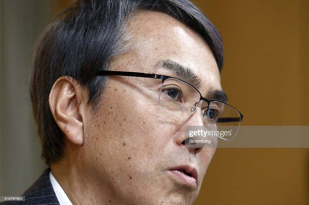 <a gi-track='captionPersonalityLinkClicked' href=/galleries/search?phrase=Nobuteru+Ishihara&family=editorial&specificpeople=2258645 ng-click='$event.stopPropagation()'>Nobuteru Ishihara</a>, Japan's economy minister, speaks during a group interview in Tokyo, Japan, on Wednesday, Feb. 17, 2016. Ishihara, Japan's new economy minister, said a sales tax increase, set to take effect April 2017, is needed to fund welfare and to maintain global confidence in the nation's finances. Photographer: Tomohiro Ohsumi/Bloomberg via Getty Images