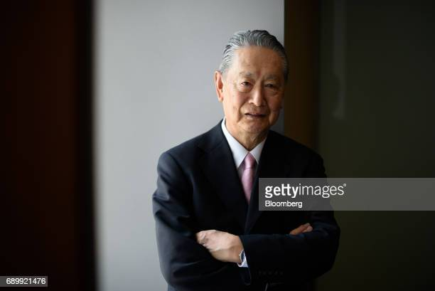 Nobuyuki Idei founder and chief executive officer of Quantum Leaps Corp and former president of Sony Corp poses for a photograph in Tokyo Japan on...