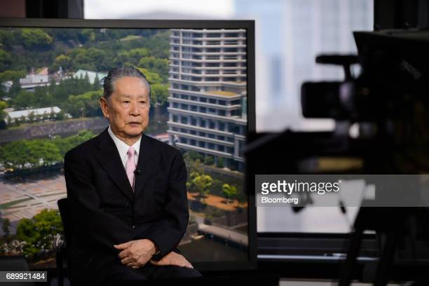 Nobuyuki Idei founder and chief executive officer of Quantum Leaps Corp and former president of Sony Corp speaks during a Bloomberg Television...
