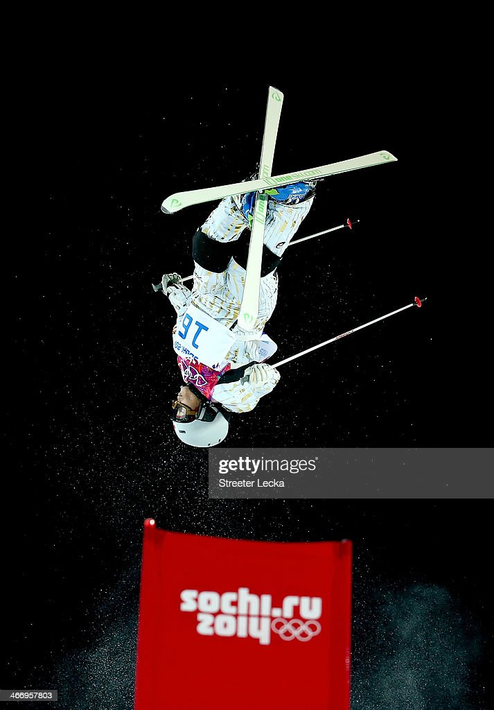 Nobuyuki Nishi of Japan trains during moguls practice at the Extreme Park at Rosa Khutor Mountain ahead of the Sochi 2014 Winter Olympics on February 5, 2014 in Sochi, Russia.