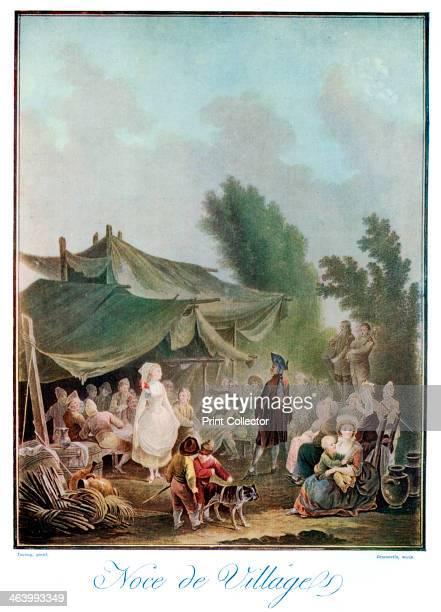 'Noce de Village' 18th century A village wedding Illustration from The Connoisseur