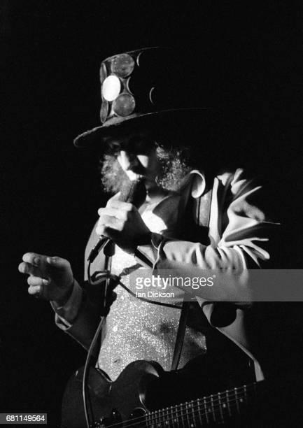 Noddy Holder of Slade performing on stage at City Hall NewcastleuponTyne 06 January 1973