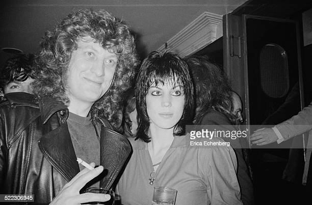 Noddy Holder of Slade with Joan Jett Kings Road London 1982