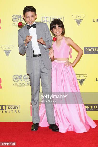 Noel Carabaza and Manelly Zepeda attend the 'How To Be A Latin Lover' Mexico City premiere at Teatro Metropolitan on May 3 2017 in Mexico City Mexico