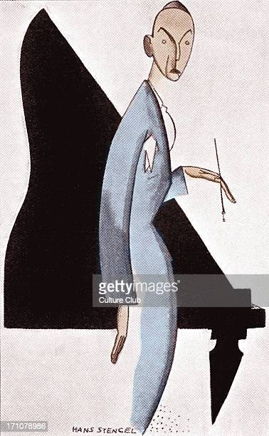 Noel Coward caricature by Hans Stengel Capion reads 'Philosopher of Us Moderns' American cartoonist 18941928 NC English actor and playwright 16...