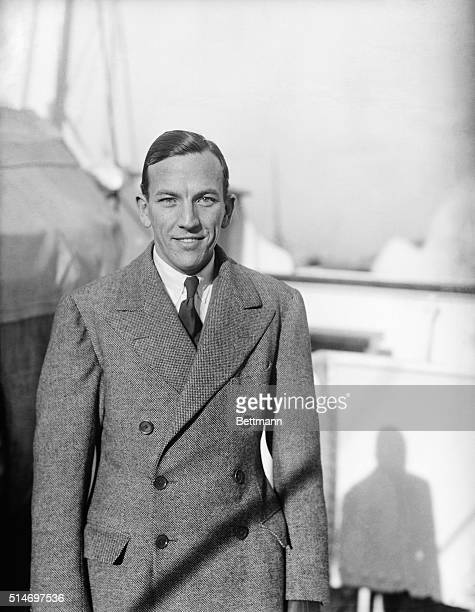 Noel Coward noted English producer playwright and actor arrives in America to produce two new plays