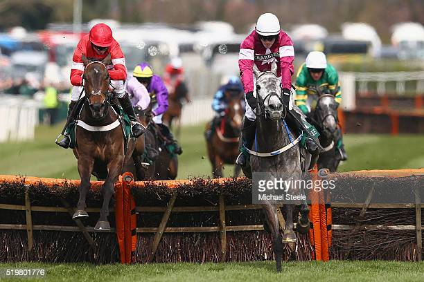 Noel Fehily riding Buveur D'Air clears the last on his way to victory from David Mullins riding Petit Mouchoir in the Imagine Cruising First in the...