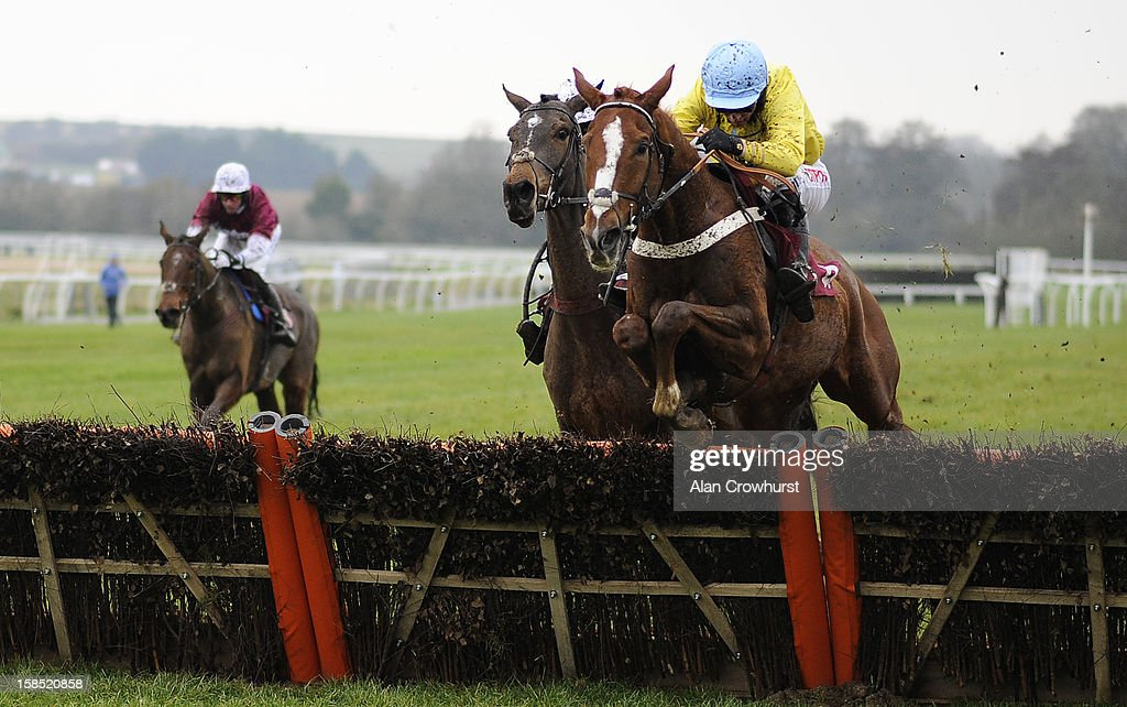 Noel Fehily riding Lord Of House clear the last to win The Gallagher Group Novices' Hurdle Race during the last meeting to be held after 114 years of racing at Folkestone racecourse on December 18, 2012 in Folkestone, England.