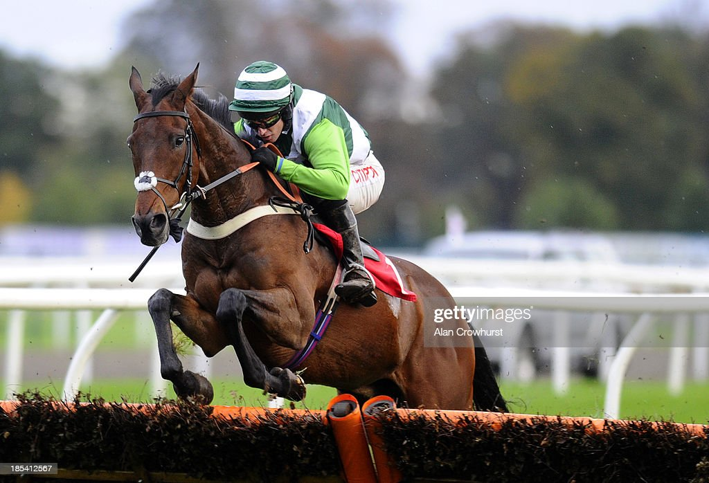 <a gi-track='captionPersonalityLinkClicked' href=/galleries/search?phrase=Noel+Fehily&family=editorial&specificpeople=241420 ng-click='$event.stopPropagation()'>Noel Fehily</a> riding Rock On Ruby in action at Kempton Park racecourse on October 20, 2013 in Sunbury, England.