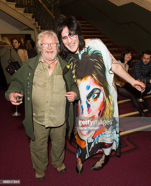 Noel Fielding and Bill Oddie attend a private view of the Noel Fielding art exhibition 'He Wore Dreams Around Unkind Faces' at the Royal Albert Hall...