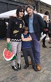 Noel Fielding and Julian Barrett at the Vauxhall Art Car Boot Fair 2015 on June 14 2015 in London England
