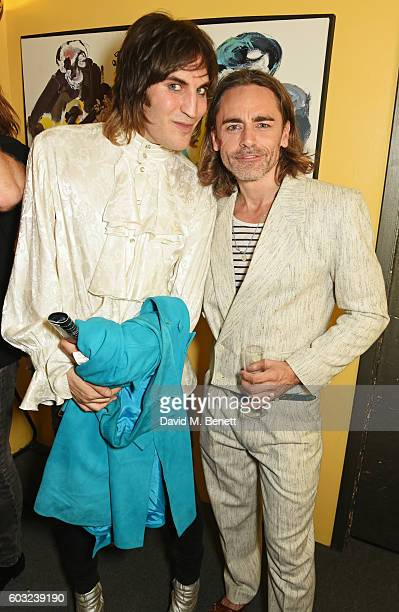 Noel Fielding and Ryan Molloy attend the press night performance of '27' at The Cockpit Theatre on September 12 2016 in London England