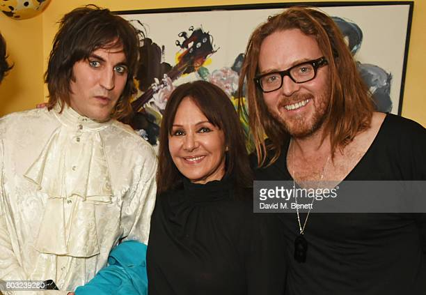 Noel Fielding Arlene Phillips and Tim Minchin attend the press night performance of '27' at The Cockpit Theatre on September 12 2016 in London England