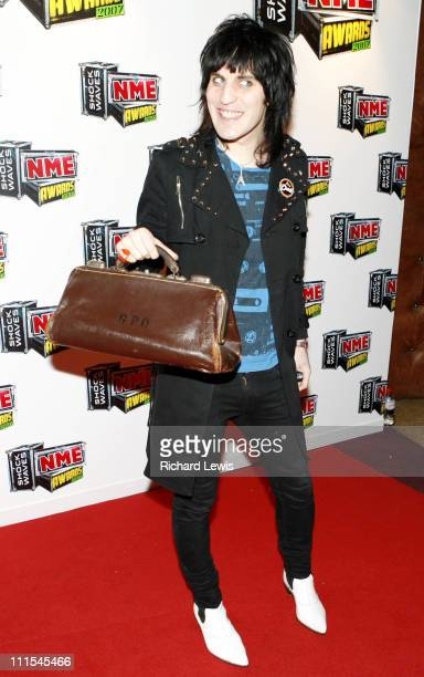 Noel Fielding arrives at the Shockwaves NME Awards 2007