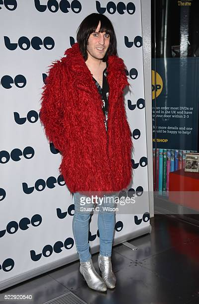 Noel Fielding attends a Photocall for the UK Film Premiere 'Set The Thames On Fire' at BFI Southbank on April 21 2016 in London England