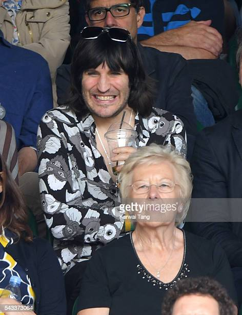 Noel Fielding attends day one of the Wimbledon Tennis Championships at Wimbledon on June 27 2016 in London England