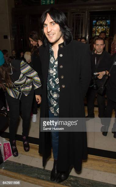 Noel Fielding attends the Pam Hogg show during the London Fashion Week February 2017 collections on February 19 2017 in London England