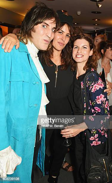 Noel Fielding Lliana Bird and Jemima Rooper attend the press night performance of '27' at The Cockpit Theatre on September 12 2016 in London England
