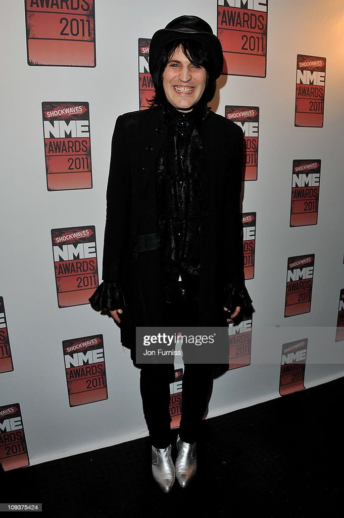 LONDON, ENGLAND - FEBRUARY 23; Noel Fielding poses in the press room during the NME Awards 2011 at Brixton Academy on February 23, 2011 in London, England.