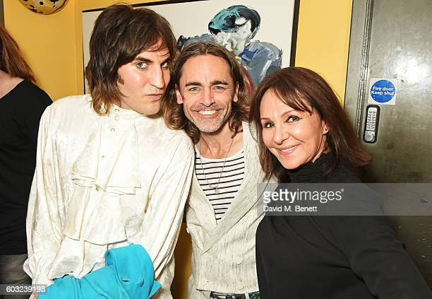 Noel Fielding Ryan Molloy and Arlene Phillips attend the press night performance of '27' at The Cockpit Theatre on September 12 2016 in London England