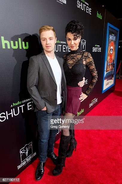 Noel Fisher and Actress Layla Alizada arrive for the Premiere Of Hulu's 'Shut Eye' at ArcLight Hollywood on December 1 2016 in Hollywood California