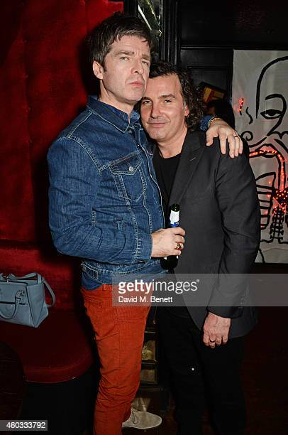 Noel Gallagher and Ant Genn attend the Glam Rock Christmas party to celebrate the collaboration between House of Hackney and Terry De Havilland at...