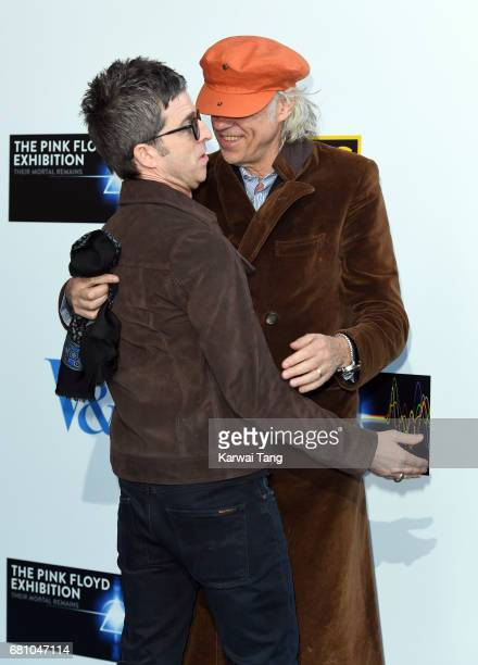 Noel Gallagher and Bob Geldof attend the Pink Floyd Exhibition Their Mortal Remains at The VA Museum on May 9 2017 in London England