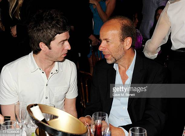 REQUIRED Noel Gallagher and Eric Fellner attend the Hoping Foundation's 'Rock On' benefit evening for Palestinian refugee children at Cafe de Paris...