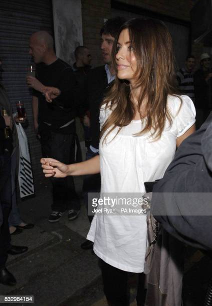 Noel Gallagher and girlfriend Sarah McDonald who is five months pregnant at a private view of Lawrence Watson's music photography at Studio 2 in east...