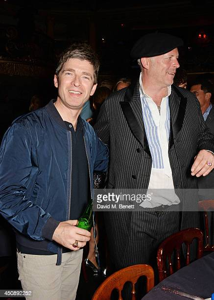 Noel Gallagher and Joe Corre attend The Hoping Foundation's 'Starry Starry Night' Benefit Evening for Palestinian Refugee Children at Cafe de Paris...