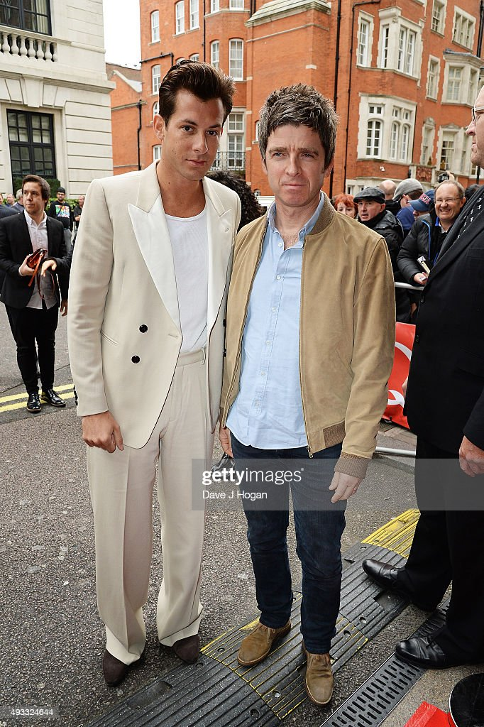 Noel Gallagher and Mark Ronson attend the Q Awards at The Grosvenor House Hotel on October 19 2015 in London England