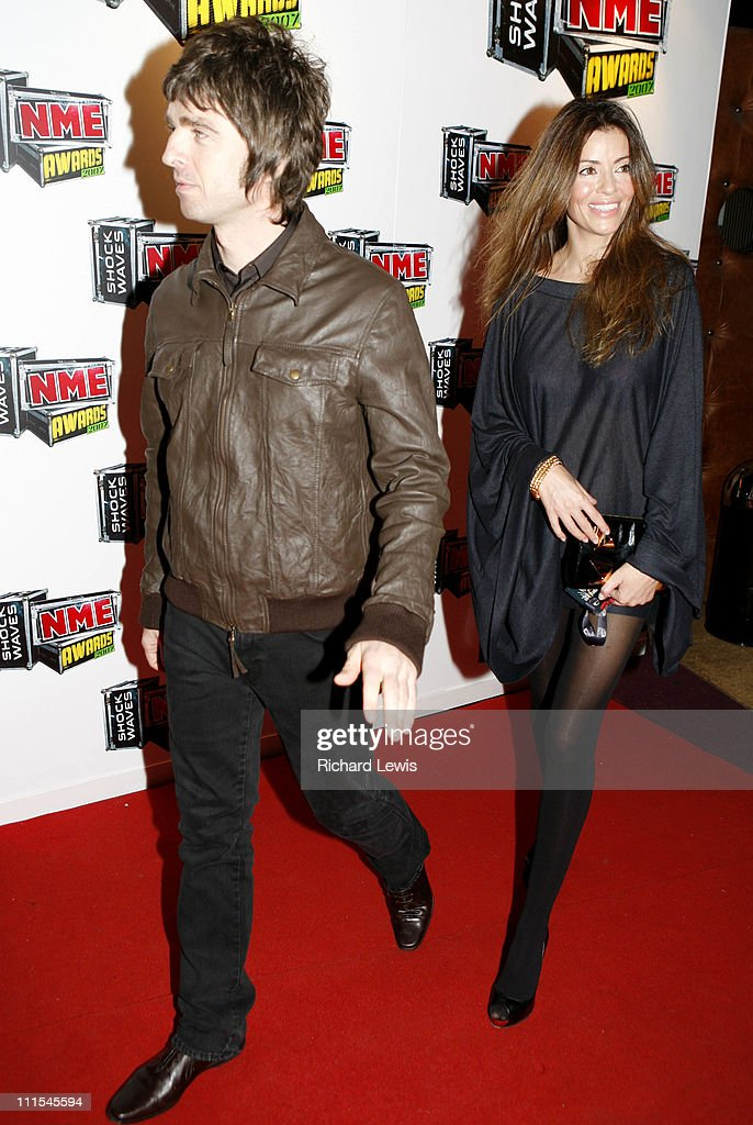 Noel Gallagher and Sara Macdonald arrive at the Shockwaves NME Awards 2007