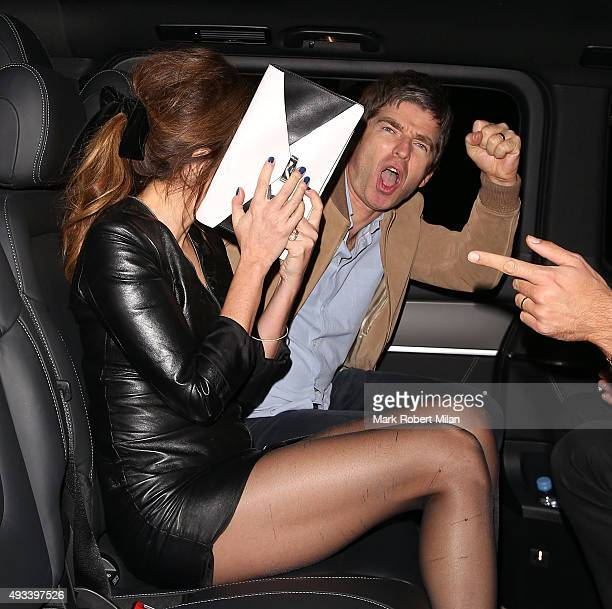 Noel Gallagher and Sara MacDonald at the Chiltern Firehouse on October 19 2015 in London England
