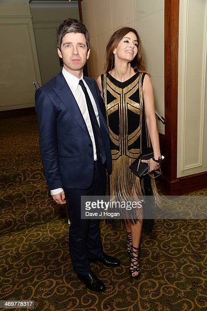 Noel Gallagher and Sara MacDonald attend the EE British Academy Film Awards 2014 after party at The Grosvenor House Hotel on February 16 2014 in...