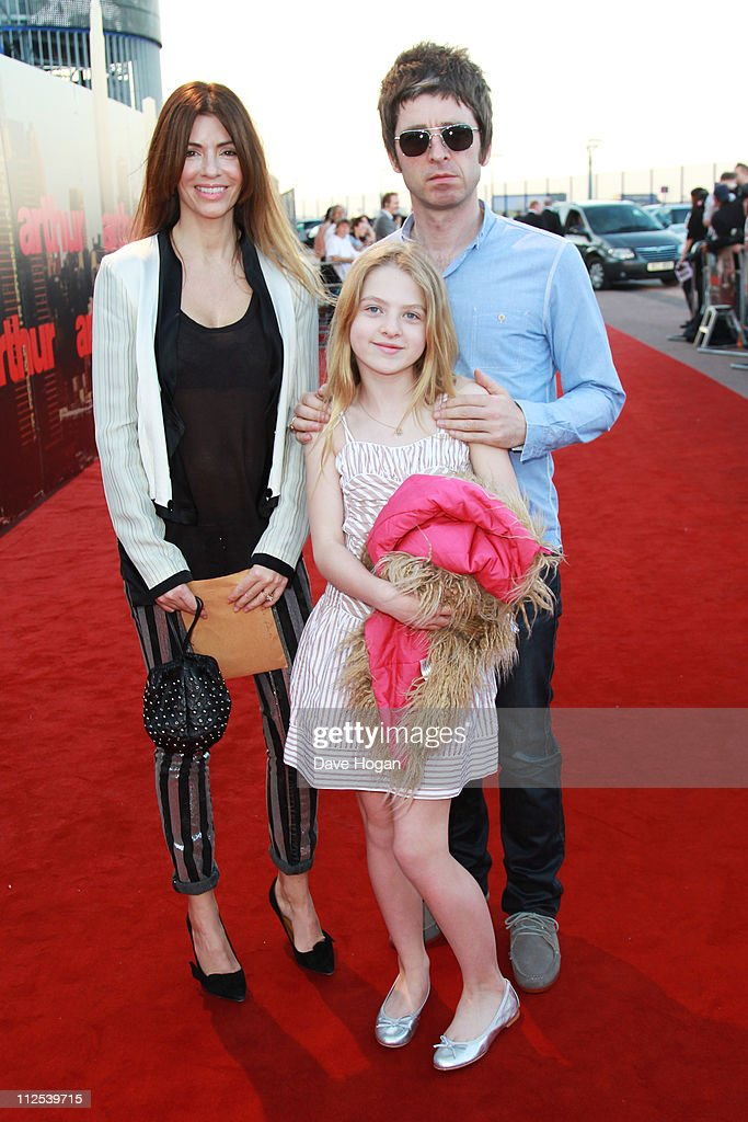 Noel Gallagher and Sara MacDonald attend the European premiere of Arthur at the Cineworld O2 on April 19, 2011 in London, England.