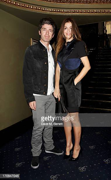Noel Gallagher and Sara Macdonald attend The Hoping Foundation's 'Rock On' benefit evening for Palestinian refugee children at Cafe de Paris on June...