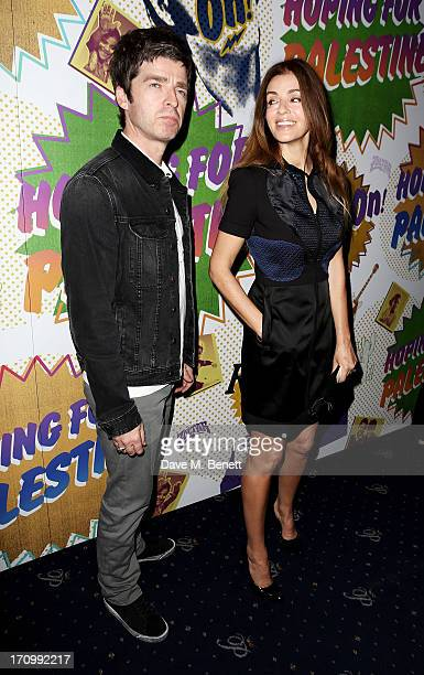 Noel Gallagher and Sara Macdonald attend The Hoping Foundation's 'Rock On' a benefit evening for Palestinian refugee children at Cafe de Paris on...