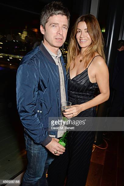 Noel Gallagher and Sara MacDonald attend the launch party as Mondrian London opens its doors on London's South Bank at Mondrian Hotel on October 9...