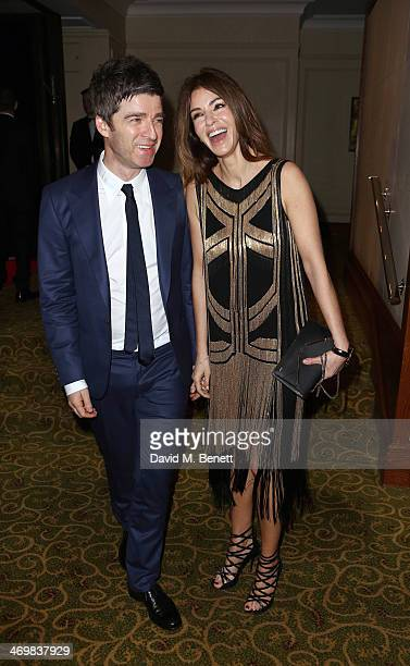 Noel Gallagher and Sara Macdonald attend the official dinner party after the EE British Academy Film Awards at The Grosvenor House Hotel on February...