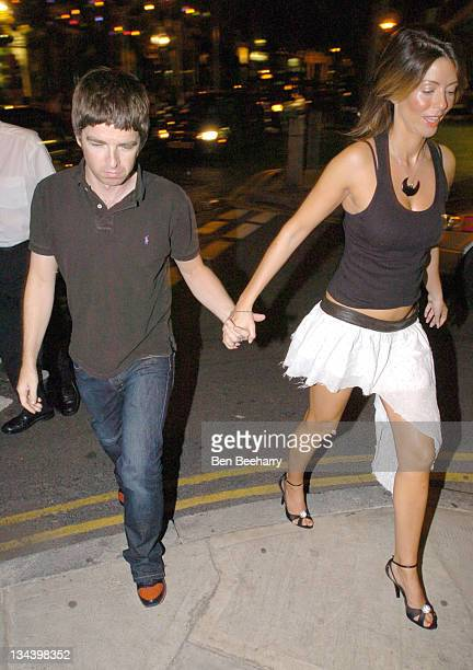 Noel Gallagher and Sara Mcdonald during Adidas Originals Store Launch Party at The Hospital Club in London England Great Britain