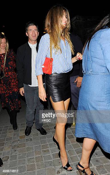 Noel Gallagher and Sarah McDonald arrives at the Chiltern Firehouse on September 18 2014 in London England
