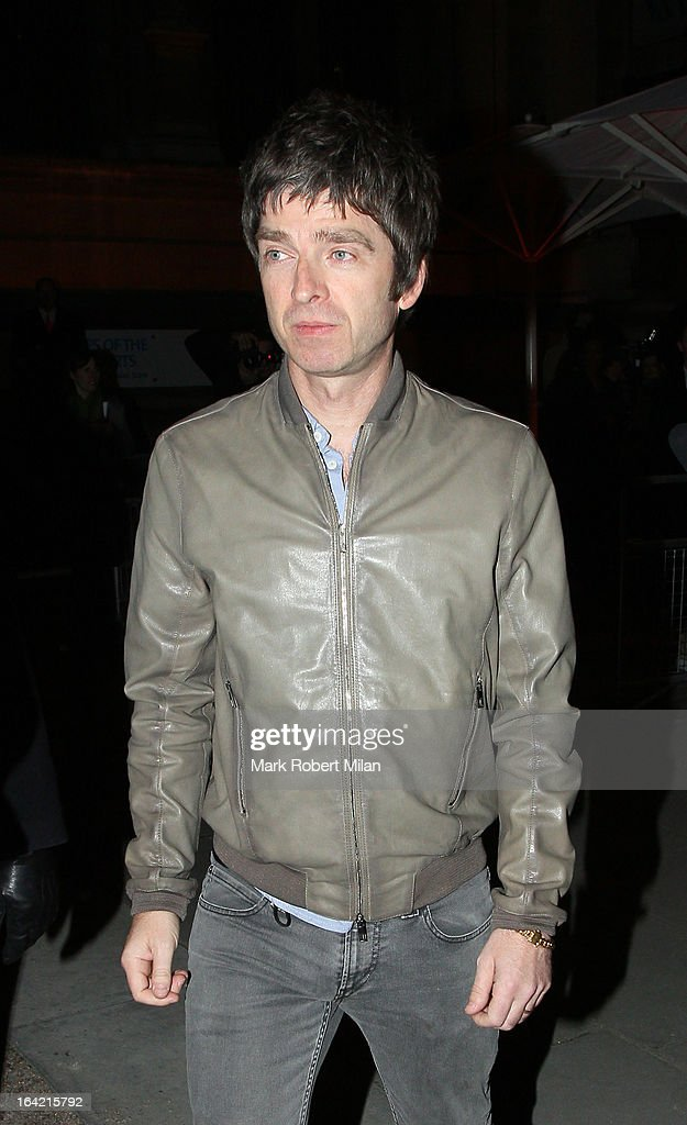 Noel Gallagher at the private view of 'David Bowie Is' at Victoria & Albert Museum on March 20, 2013 in London, England.