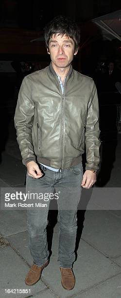 Noel Gallagher at the private view of 'David Bowie Is' at Victoria Albert Museum on March 20 2013 in London England