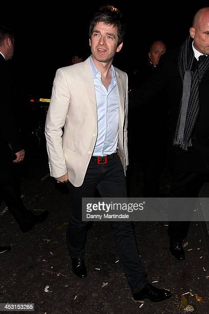 Noel Gallagher attends Playboy's 60th anniversary issue party hosted by Marc Jacobs and Kate Moss at The Playboy Club on December 2 2013 in London...